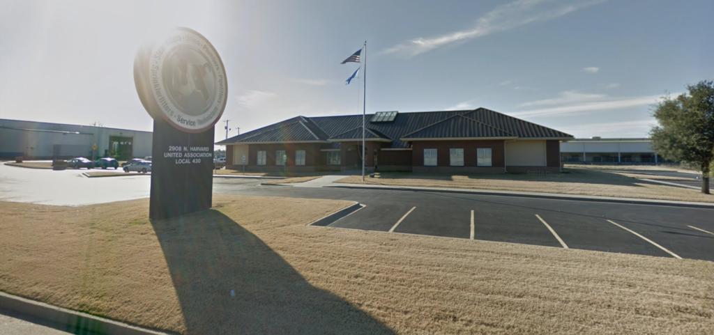 The UA Local 430 Union Hall in Tulsa, Oklahoma